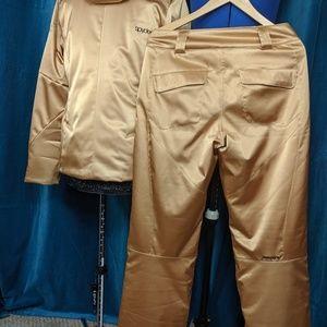 NWoT Spyder metallic gold ski snowboard pants